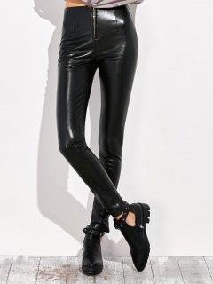 Pencil PU Pants - Black Xl