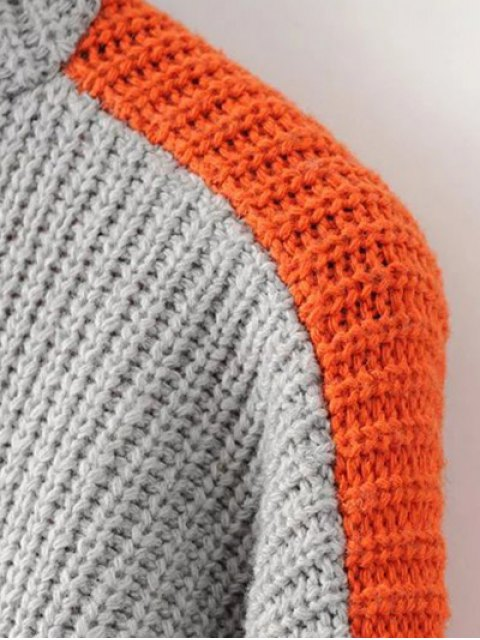 unique Turtleneck Chunky Sweater - JACINTH ONE SIZE Mobile