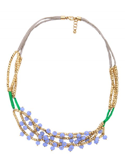 womens Bohemian Beaded Braid Necklace -   Mobile
