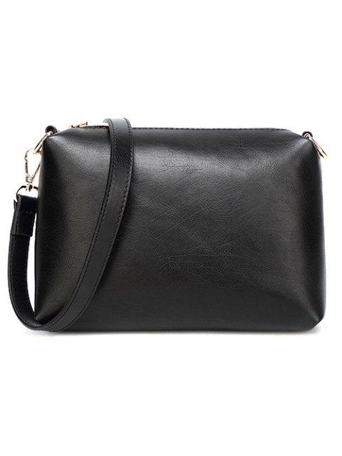 chic Metal Chains PU Leather Handbag - PURPLE  Mobile