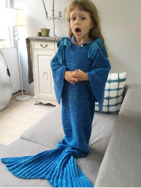 womens Sleeping Bag Knitted Mermaid Blanket -   Mobile