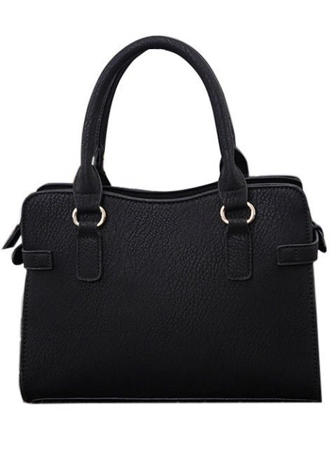 affordable Stitching Zip Textured PU Leather Tote -   Mobile