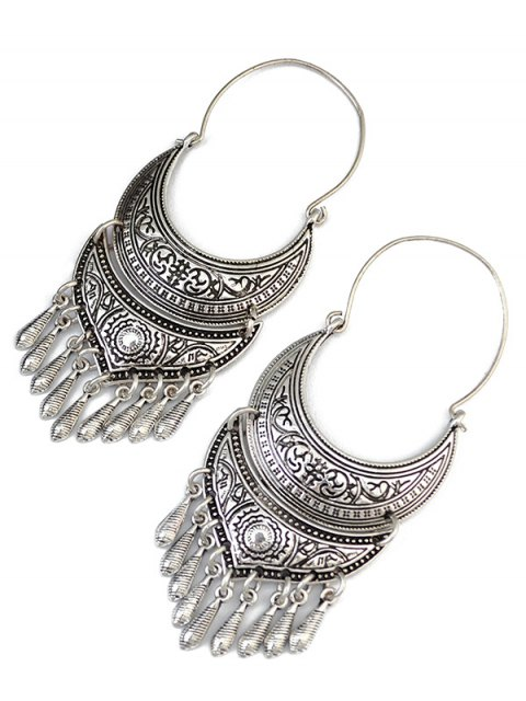 shops Crescent Tear Drop Earrings - SILVER  Mobile