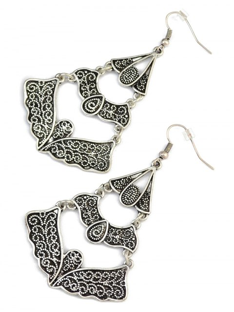 trendy Hollow Out Butterfly Earrings -   Mobile