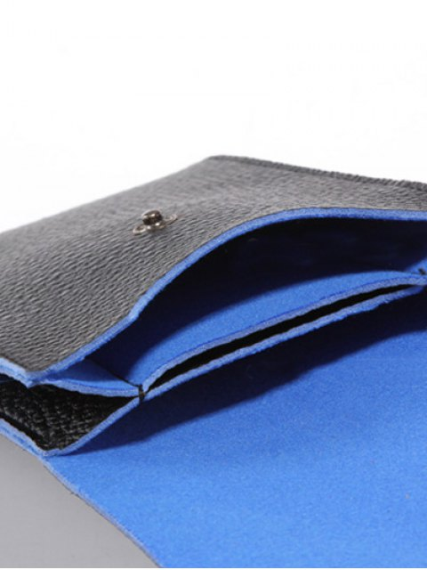unique PU Leather Cell Phone Purse - BLUE AND BLACK  Mobile