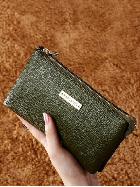 women's Metal Textured PU Leather Clutch Bag -   Mobile
