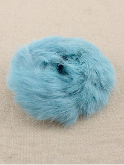 shops Furry Ball Elastic Bracelet - BLUE  Mobile