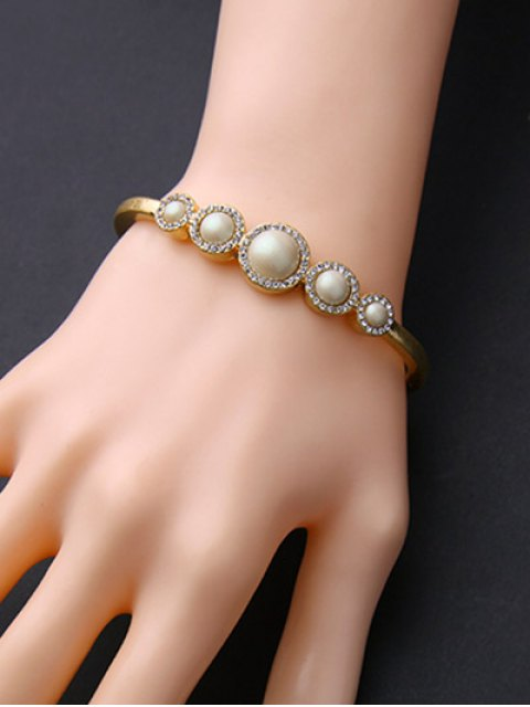 latest Artificial Pearl Rhinestone Bracelet -   Mobile