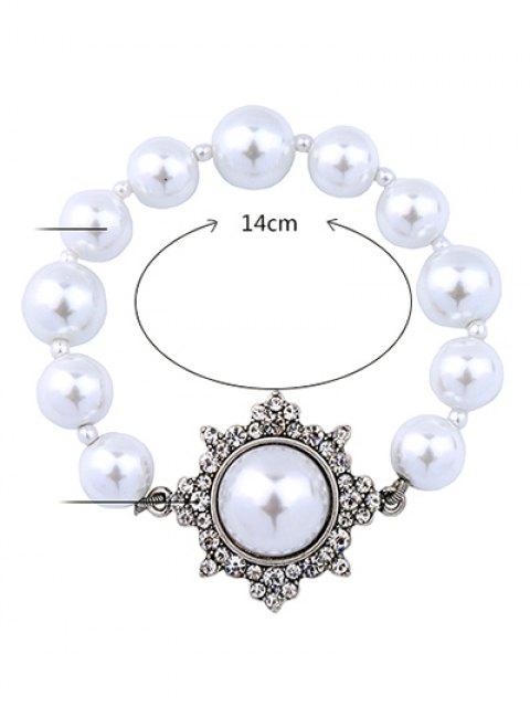 fashion Artificial Pearl Vintage Beaded Bracelet -   Mobile