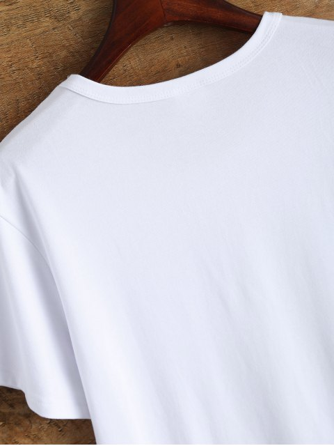 shop Jewel Neck 90's T-Shirt - WHITE L Mobile