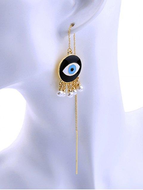 new Faux Pearl Eye Earrings - GOLDEN  Mobile
