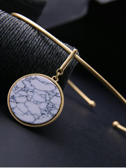 online Circle Natural Stone Necklace -   Mobile