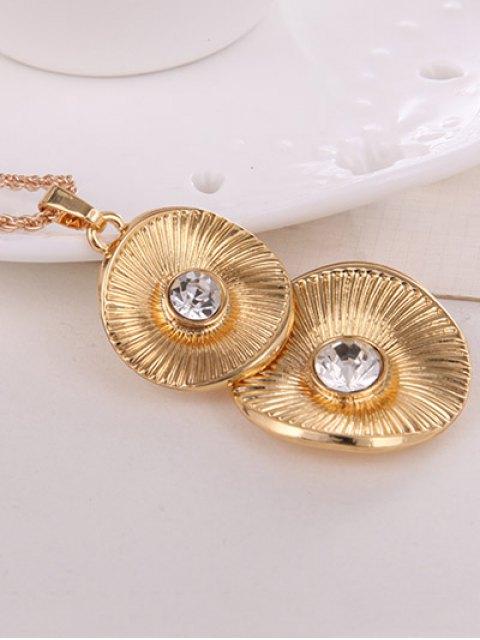 sale Vintage Alloy Rhinestone Jewelry Set -   Mobile