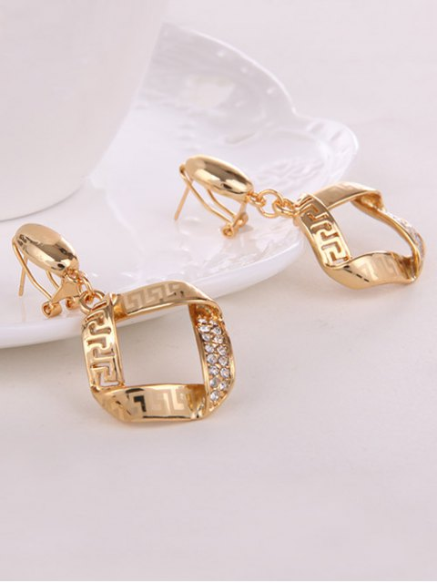 affordable Square Rhinestone Hollow Out Jewelry Set -   Mobile