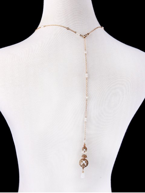 hot Artificial Pearl Rhinestone Collar Necklace -   Mobile