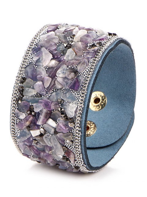 best Natural Stone Faux Leather Bracelet -   Mobile