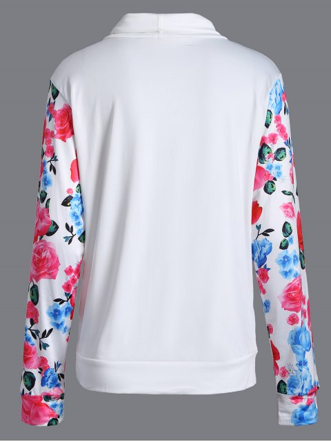 outfit String Floral Sweatshirt - WHITE S Mobile
