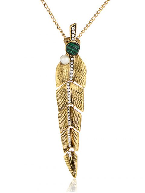 outfits Artificial Pearl Feather Sweater Chain -   Mobile