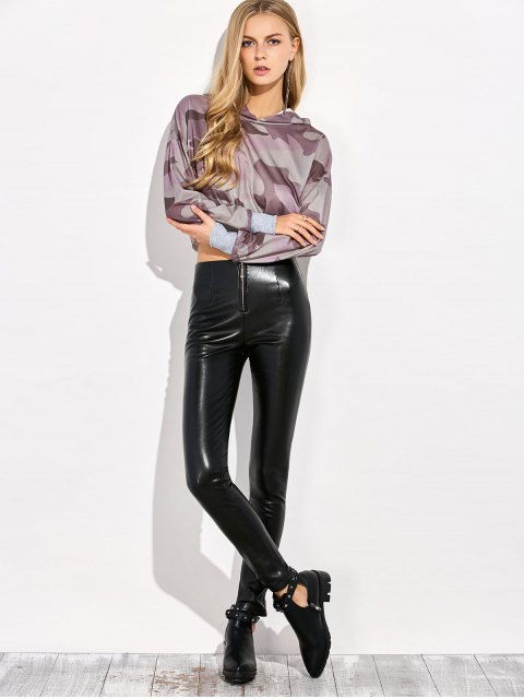 chic Pencil PU Pants - BLACK 3XL Mobile