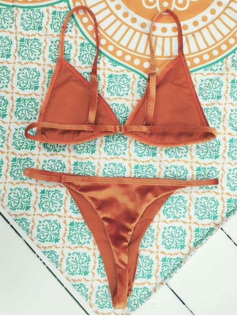 ladies Velvet Reversible Bikini Set - JACINTH L Mobile