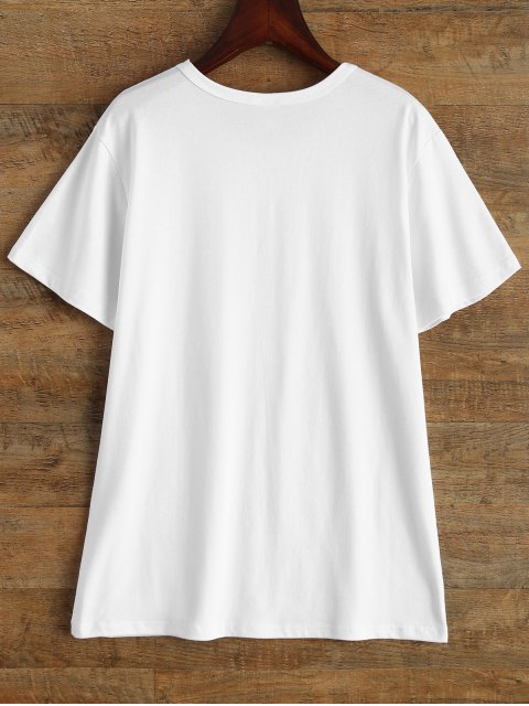 shops Jewel Neck Just Do It Later T-Shirt - WHITE M Mobile