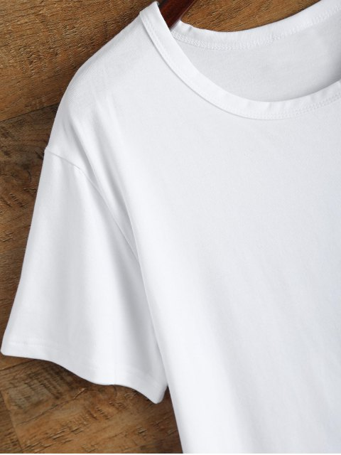 hot Jewel Neck Sivan 95 T-Shirt - WHITE M Mobile