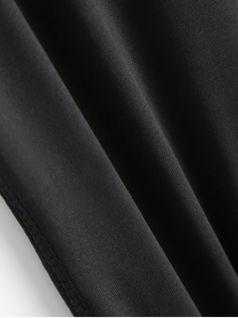 unique Skinny See-Through Leggings - BLACK S Mobile