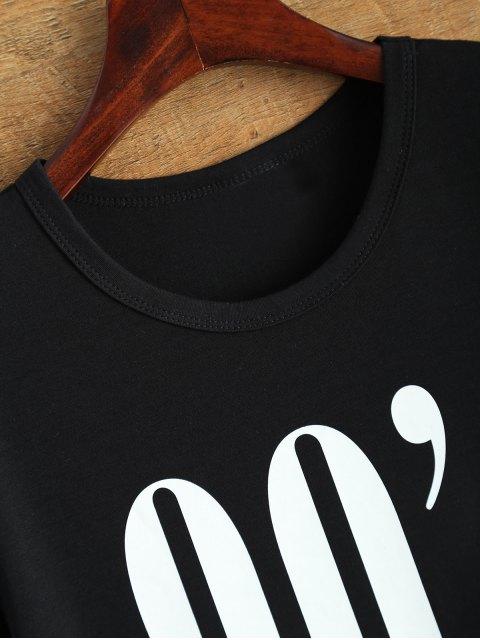 fancy Jewel Neck 90's T-Shirt - BLACK S Mobile