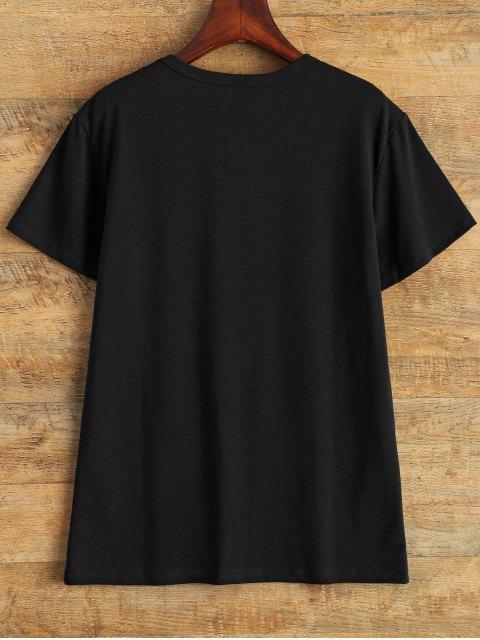 buy Jewel Neck I Like Dogs T-Shirt - BLACK L Mobile