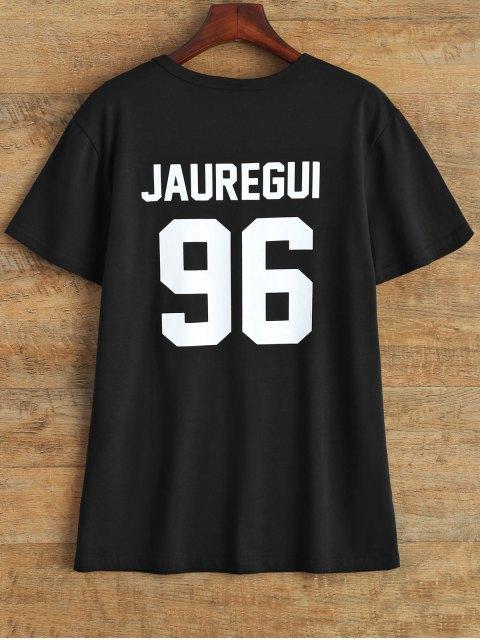 best Jewel Neck Jauregui 96 T-Shirt - BLACK L Mobile