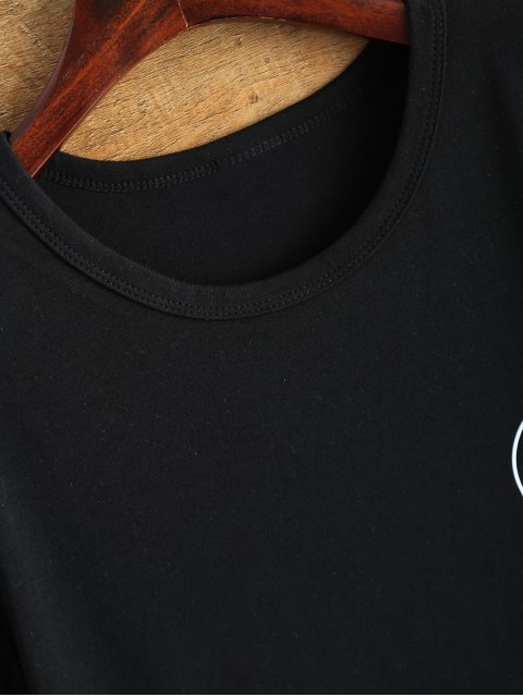 womens Jewel Neck Alien T-Shirt - BLACK M Mobile