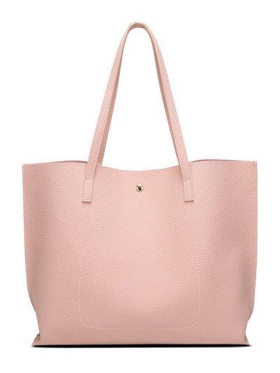 Textured PU Leather Tassel Shoulder Bag - BLUE  Mobile