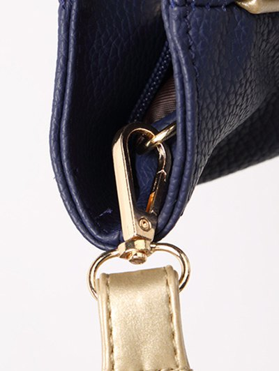 Chains Pendant PU Leather Shoulder Bag - BLUE  Mobile