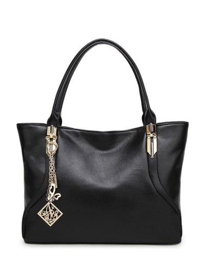Chains Pendant Shoulder Bag - BLACK  Mobile