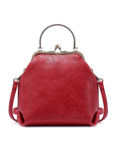 Vintage Metal Trimmed Fringe Bag - RED  Mobile