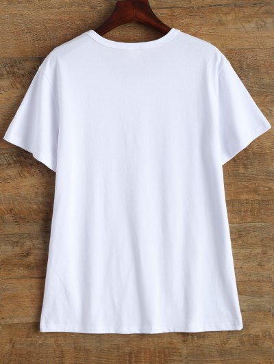 Jewel Neck 90's T-Shirt - WHITE L Mobile