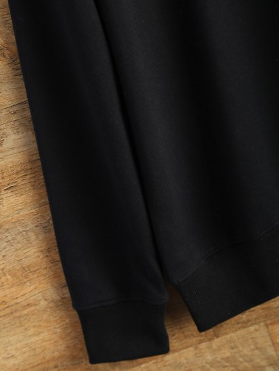 Text Print Crewneck Sweatshirt - BLACK L Mobile