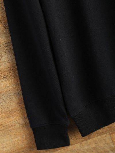 Text Print Crewneck Sweatshirt - BLACK M Mobile