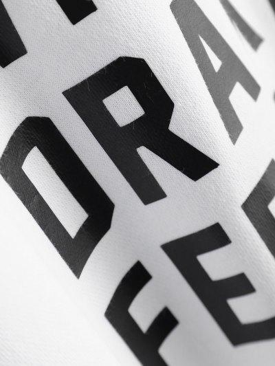 Graphic Crew Neck Streetwear Sweatshirt - WHITE M Mobile