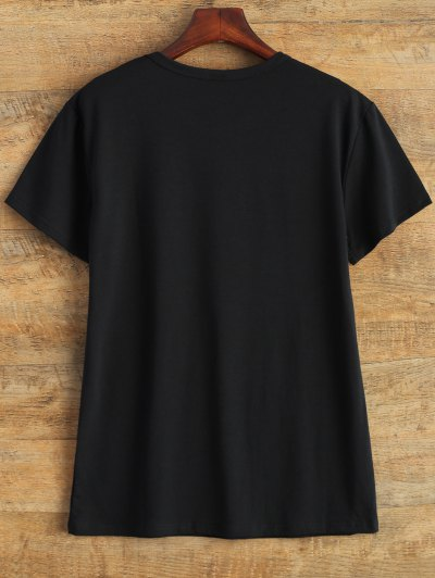 Jewel Neck 90's T-Shirt - BLACK S Mobile