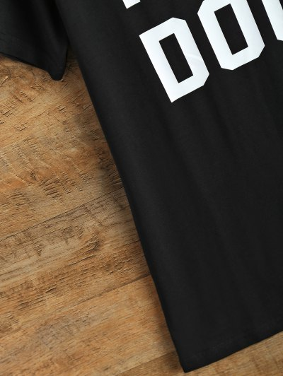 Jewel Neck I Like Dogs T-Shirt - BLACK M Mobile