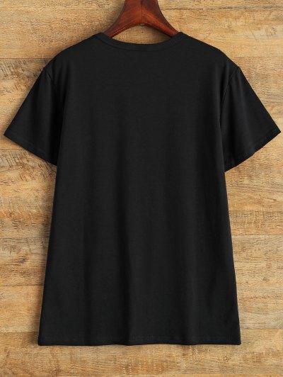 Jewel Neck I Like Dogs T-Shirt - BLACK S Mobile