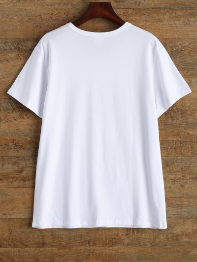 Jewel Neck Pizza Is My Bae T-Shirt - WHITE L Mobile