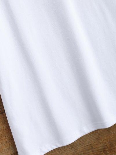 Jewel Neck Alien T-Shirt - WHITE S Mobile