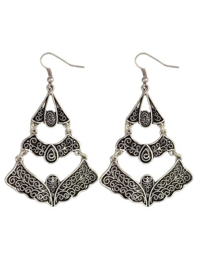Hollow Out Butterfly Earrings - SILVER  Mobile