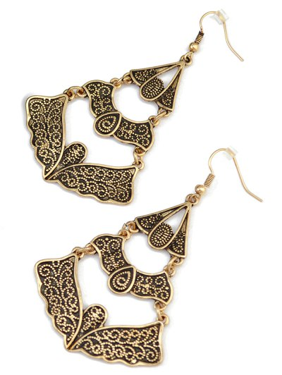 Hollow Out Butterfly Earrings - GOLDEN  Mobile