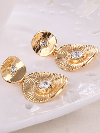 Vintage Alloy Rhinestone Jewelry Set - GOLDEN  Mobile