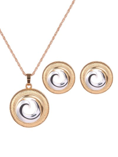 Hollow Out Crescent Jewelry Set - GOLDEN  Mobile