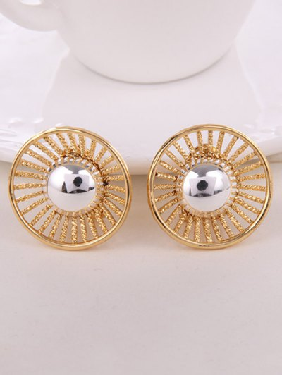 Faux Pearl Round Jewelry Set - GOLDEN  Mobile