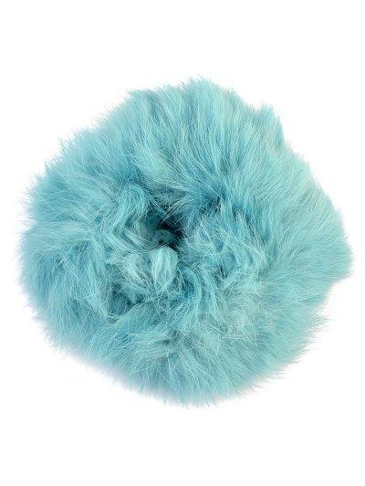 Furry Ball Elastic Bracelet - BLUE  Mobile